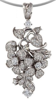 """Pendant """"Blooming Vine"""", by Gevorgian Art & Jewelry."""