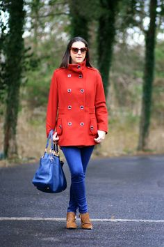 A pop of color makes winter wear so much fun! via @Jill Seiman