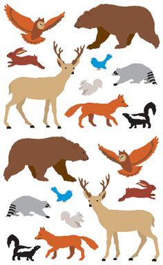 Giant Roll - Mrs Grossman's Stickers - Woodland Animals by Mrs Grossman's Paper Co Proudly made in the USA Creatures of the Woodlands Stickers - Full Roll - 100 Stickers In Sets of 9. They are great f