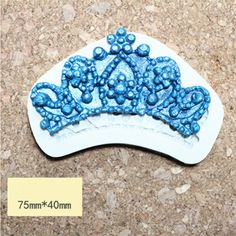 Silicone Mold fondant mould Crown sugar cake 2D beautiful Princess Crown candy mold food grade silicone for cake decorations