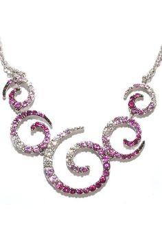 Stefan Hafner Zingara Pink Sapphire and Diamond Necklace