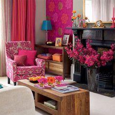 Ideias para decorar o interior das lareiras