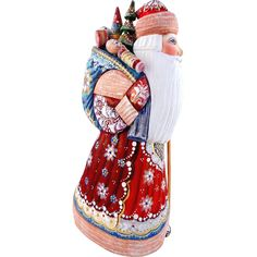 Russian Santa/Father Christmas in Red  with Toys in Sack