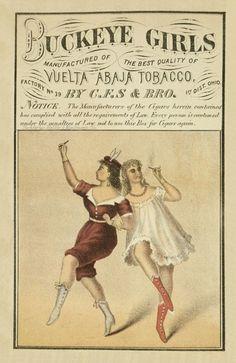 Buckeye Girls Victorian Tobacco Label Reproduction