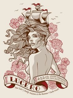 GigPosters.com - Lucero - Deer Tick - J Roddy Walston & The Business - Turbo Fruits