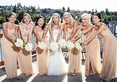 """1,195 Likes, 5 Comments - Strictly Weddings (@strictlyweddings) on Instagram: """"It's nothing but smiles when #teambride wears @dessygroup bridesmaids dresses✨! 📷: @maririckphoto…"""""""