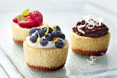 Watch now to discover how to create this luscious berry-topped mini cheesecake recipe! PHILADELPHIA Mini Cheesecakes are the perfect size for a treat.