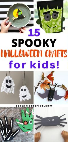 Check out this list of 15 Spooky Halloween Crafts For Kids for some fresh ideas and inspiration to celebrate the goolish holiday!  They are perfect for toddlers, preschoolers and even elementary school age children.  #halloween #fall #craft #diy #halloweencraft #fallcraft #kidscraft #preschoolscraft Spooky Halloween Crafts, Halloween Activities For Kids, Diy Halloween Decorations, Halloween Ideas, Halloween Games, Halloween 2020, Preschool Activities, Happy Halloween, Ghost Crafts