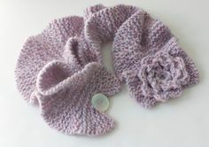 Knitting Pattern for Ruffled Neck Warmer with by beadedwire