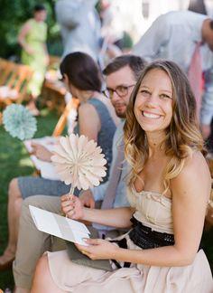 paper ceremony fans | Jen Fariello #wedding