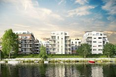 Neubau von Eigentumswohnungen im Bauobjekt WOHNQUARTIER UFERKRONE in Berlin-Köpenick. Foto: BUWOG Bauträger GmbH