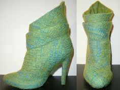Ankle boots covered with nuno felt  Metamorphosis by sheverdushka,