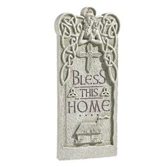Grasslands Road Celtic Heritage Outdoor Vertical Plaque, 472014 (Bless this Home) -- Details can be found by clicking on the image. (This is an affiliate link) #GiftBaskets