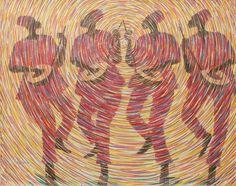 African Fine Art Signed Original Painting Music Dance Theme 'Melody' NOVICA #NOVICA