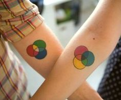 color wheel tattoo,  brother sister tattoo!?