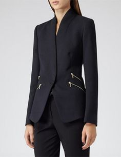 REISS Arya Streamlined Slim-Fit Blazer