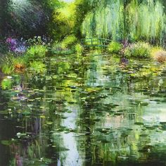 Giverny by Gleb Goloubetski,   Oil on Canvas, 120cmx120 cm