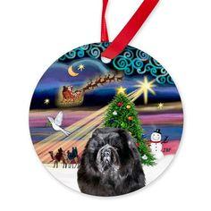 Xmas Magic & Chow Chow Ornament (Round) on CafePress.com