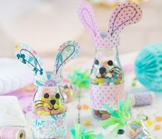 Osterhasen-Gläschen und Karotten-Tüten mit Jelly Belly Candy Corn, Snacks Für Party, Smoothie Bowl, Diy Costumes, Quality Time, Happy Easter, Christmas Ornaments, Holiday Decor, Cake