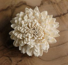 wood flower - as a place card or menu holder?