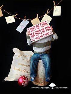 Easy Prop Idea : Create santa letters on a string behind subject. | In Studio… no need to find someone to play Santa