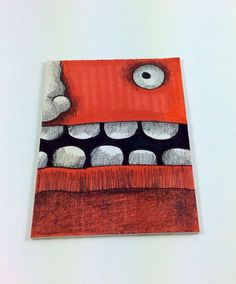 Orange Monster ACEO by Aaron Butcher on Etsy, $5.00