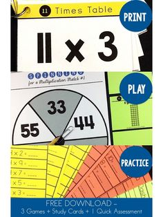 Grab several FREE multiplication games and learn 5 FUN ways to teach multiplication facts.