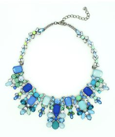 Look at this Blue & Aqua Sky Statement Necklace on #zulily today!