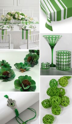 Decorating with green is a lovely way to mark Tu B'Shevat in style.