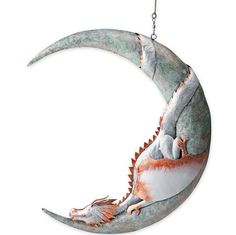 At more than two feet high, this Dragon on Moon Hanging Metal Sculpture is sure to be the center of attention wherever it's displayed. This weary dragon has … Dragon Statue, Dragon Art, Dragon Garden, Kawaii, Javi Wolf, Dragons, Sculpture Metal, Yard Sculptures, Marquesan Tattoos