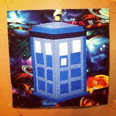 Tardis block done!  This one is mine. #doctorwho #doctorwhoquiltalong #quilting #sewing #foundationpiecing by {Pink Punk} Shelly on Flickr.