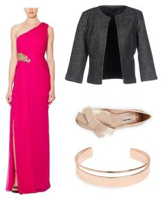 """#Going out"" by bmarie402 ❤ liked on Polyvore featuring Marchesa, ONLY, Miu Miu and Leith"