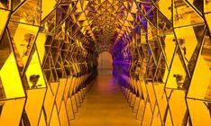 Tunel de vidrio colores y luces de Olafur Eliasson