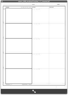 storyboard template word document here template