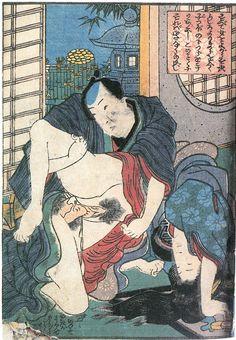 "Kunisada Utagawa ""Sankai-hikan"" figure 1 #shunga #art #springpictures #woodblock #Japan #Japanese #utagawa #KunisadaUtagawa #asianart #antique"