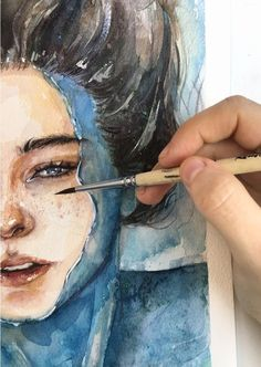 Ideas For Art Inspiration Watercolor Water Inspiration Art, Art Inspo, Art Sketches, Art Drawings, Science Drawing, Water Drawing, Water Art, Art Amour, Watercolor Water
