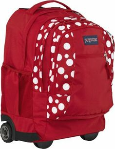 Red Rolling Backpack | Cg Backpacks