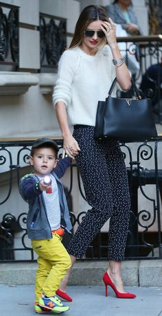 The Many Bags of Celebrity Moms Miranda Kerr Louis Vuitton Capucines Bag
