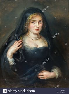 17th century  -  Portrait of a Woman, Probably Susanna Lunden - Pierre Paul Rubens (1625) Oil on canvas Stock Photo