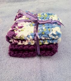 2 piece set cotton crochet Kitchen Dishcloths Set washcloth coasters by MyLittleCrochetShop on Etsy