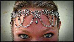 Purple and Black Pentacle Crown Renaissance by worldinchainsmaille, $165.00