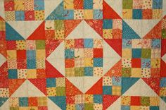 "Jacobs Ladder Objects of Desire fabrics close up  Kimberly Einmo from her online video""Magical Jelly Rolls Quilts "" on Craftsy"