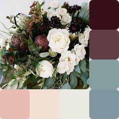 My winter wedding palette! – Farbkombo – My winter wedding palette! February Wedding Colors, Winter Wedding Colors, Fall Wedding Flowers, Autumn Wedding, Wedding Color Pallet, Wedding Color Schemes, Colour Schemes, Wedding Colour Palettes, Color Palettes
