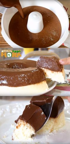 Pudim Prestígio de Geladeira #PudimPrestígiodeGeladeira #PudimPrestígio #Receitatodahora Brownie Recipes, Chocolate Recipes, Milk And Cheese, Portuguese Recipes, Cake Cookies, Coco, Sweet Recipes, Sweet Treats, Food And Drink