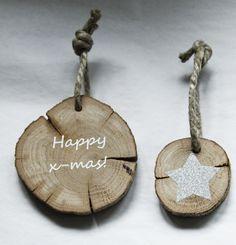 Tree slice ornaments