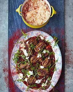 Jamie's 15 minute Pork Steaks, Hungarian Pepper Sauce and Rice, Food And Drinks, Jamie Oliver - Pork Steaks, Hungarian Pepper Sauce and Rice. Jamie's 15 Minute Meals, 15 Min Meals, Quick Meals, Pork Fillet, Pork Steaks, Pork Recipes, Cooking Recipes, Healthy Recipes, Bon Appetit