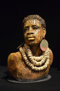 Lyeke (Strength) | Clayton Lane Fine Arts •MXS | Artist: Woodrow Nash | Wood Sculpture