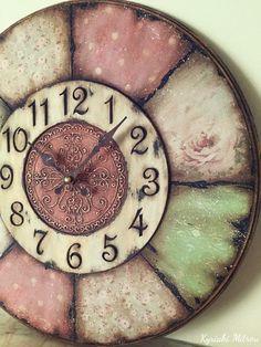 Clock Art, Diy Clock, Clock Decor, Wall Decor, Rustic Wall Clocks, Farmhouse Wall Clocks, Art Deco Furniture, Modern Furniture, Furniture Design