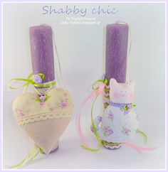 sewing, fabric, Shabby chic, Αρωματική Πασχαλινή λαμπάδα, Υφασμάτινη καρδιά, γατούλα Wax, Rocks, Shabby Chic, Eggs, Easter, Candles, Easter Activities, Egg, Candy