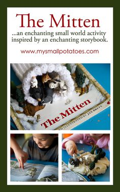 Weekly Kid's Co-op: The Mitten...An Enchanting Small World Activity Inspired by an Enchanting Storybook via www.mysmallpotatoes.com